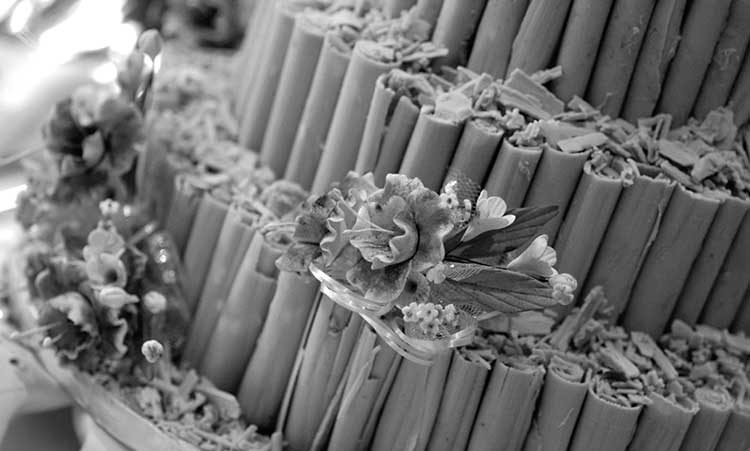 Wedding Cake Flower Decor