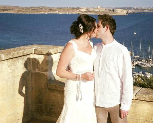 Harbor wedding in Malta