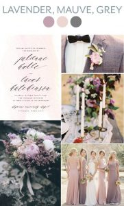 Lilac and blush colour palette