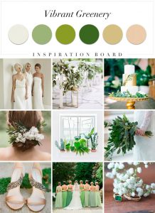 Vibrant Greens colour palette