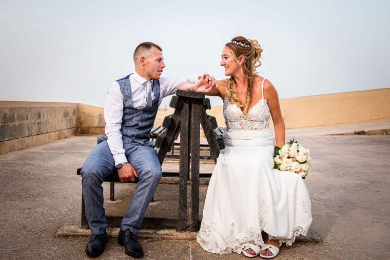 Irish couple wed in Malta